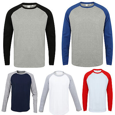 68a01a16a49f SF MEN LONG Sleeves Baseball T-shirt Mens Skin Fit Sportswear Tee ...