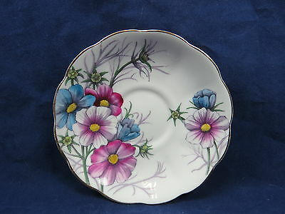 Vtg Royal Albert Flower of the Month Saucer Only October Cosmos S6 3.53