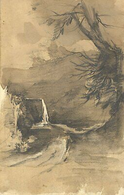 William Burgess of Dover, Rural Study - Early 19th-century watercolour painting