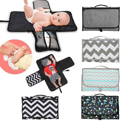 New Baby Portable Waterproof Folding Changing Pad Mat Diaper Bag Outdoor Travel