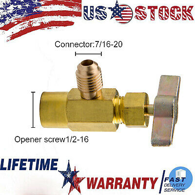 Mastercool #85530 A//C Dual 3-In-1 Side Can Tap Valve