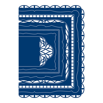 New Tattered Lace Card Shapes A6 Rectangle Cutting dies ETL619 - 8 Die Set