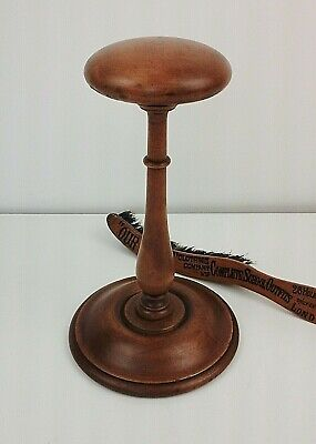 Charming Vintage Turned Wood Hat Display Stand Period Shop Fitting C.1940's.