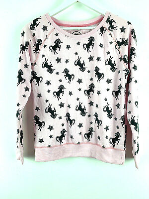 Girls Unicort Shirt Top Sweatshirt Pink Black Kylie Age 13/13+years *H