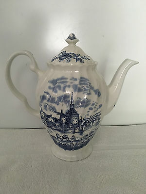 Johnson Brothers TULIP TIME (WHITE BACKGROUND) Coffee Pot  England
