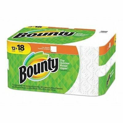 BOUNTY 95027 Paper Towels,2-Ply,54 Sheets,White,PK12