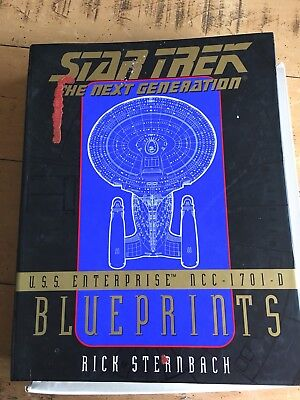 Star Trek The Next Generation Enterprise NCC 1701-D 13 Qty Blueprints Boxed Set