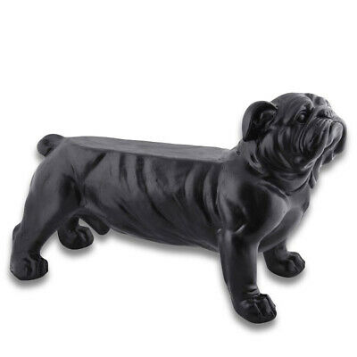 Fallen Fruits Bull Dog Garden Bench Black 76cm