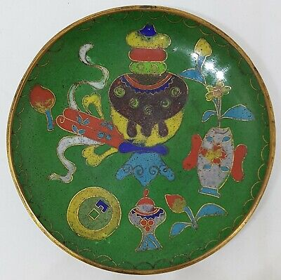 Good Antique Chinese Cloisonne Plate/ Dish