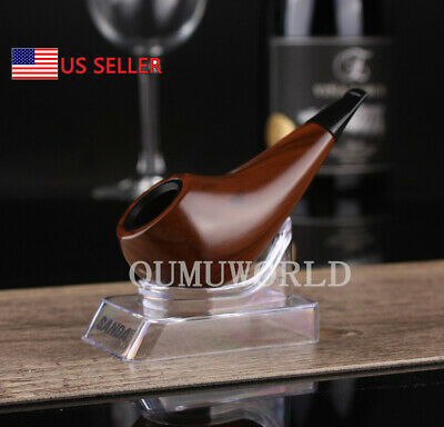 Durable Wooden Wood Smoking Pipe Tobacco Classic Cigarettes Cigar Pipes Dark Red