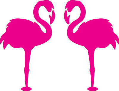 Window Wall Glass Display Pair Flamingo Bird Silhouette Decal Sticker Craft
