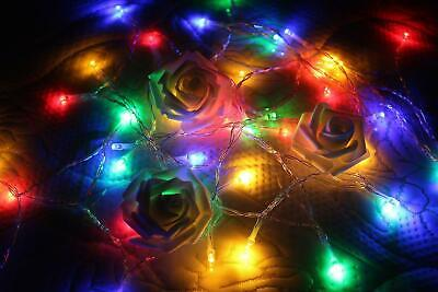 RGB Light String Colorful Led Fairy AA Battery Operated Bright LED 4M 40 Leds