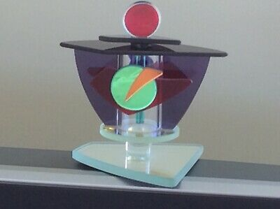 Signed George Ponzini multicoloured scent / perfume bottle.