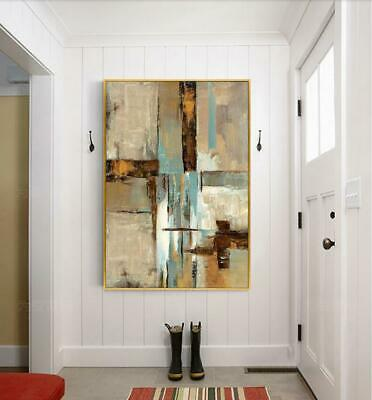 """HH244 100% HAND-PAINTED OIL PAINTING ABSTRACT COLOR ART ON CANVAS Unframed 36"""""""