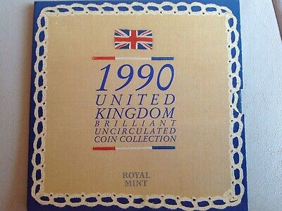 1990 Royal Mint United Kingdom Brilliant Uncirculated Coin Collection Set #1