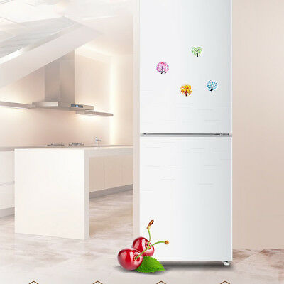 12 Pcs Refrigerator Magnets Landscape Tree Glass Round Fridge Stickers for Party