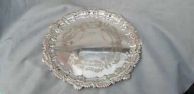 A Very Elegant Vintage Serving Tray With Engraved Patterns.very ornate.