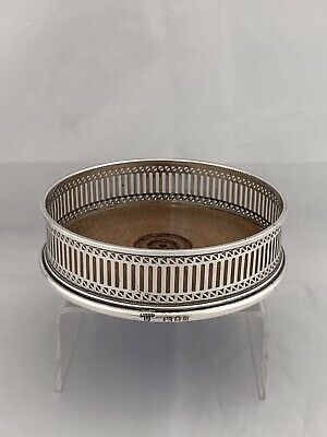 Solid Silver Coaster Or Slide 1974 London A Chick Ltd Georgian In Style