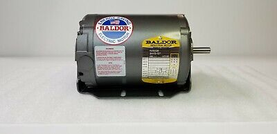 Rm3006 Baldor Motor, .33 Hp, 3450 Rpm, 3 Ph, 208-230/460 V, 60 Hz, Frame 48