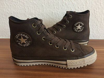 CONVERSE ALL STAR Chucks ,Winter ,Braun ,Leder Gr 37 Uk 4,5