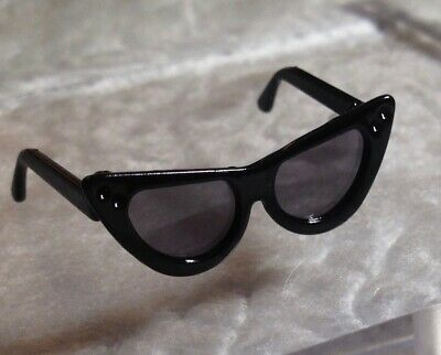 Black Cat Eye foldable SUNGLASSES with grey tinted lenses IT FR Integrity