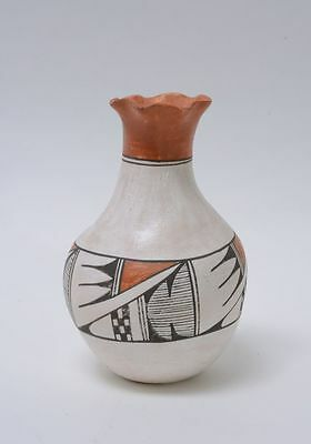 Mary Louden (Yellow Corn) Acoma Pueblo Indian Pottery, Polychrome