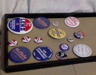 Vintage Politcal Memorabilia. Buttons. 15. Different Sizes. President & Other.