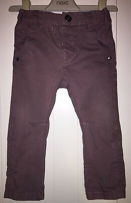 Boys Age 9-12 Months - Next Brown Cargo Trousers /Jeans