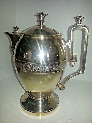 Antique Reed &Barton Silver Plate Pitcher by J A Stimpson circa 1800's