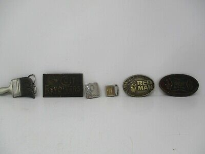 Lot of 6 Belt Buckles