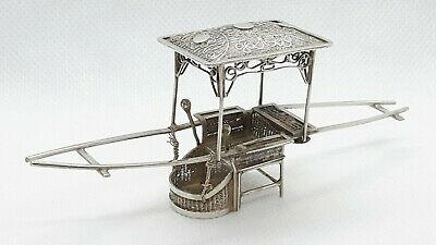 Antique Chinese Solid Silver Sedan chair by Silversmith Wang Hing