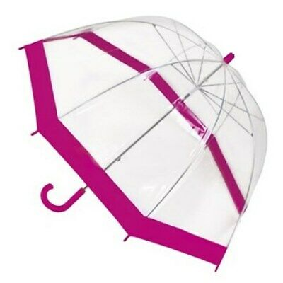 Girls Pink 3d MERMAID Umbrella Bubble Dome Novelty Brolly Children School Travel