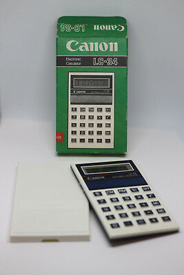 Canon LC-34 Vintage Electronic LCD calculator - boxed 1984