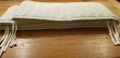 Extra Long White Padded Cot Bumper 140cm Ikea Cotton