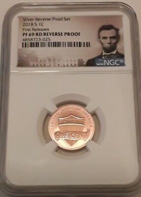 2018 S Lincoln Penny REVERSE PROOF First Releases NGC PF 69 (POR)
