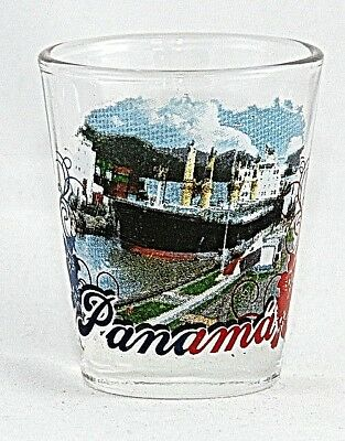 Panama Canal Shot Glass Shotglass