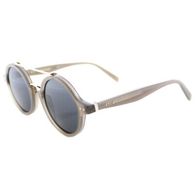 41fffc27b38 Authentic Celine CL 41436 I4Q Thin Ella Opal Brown Sunglasses Grey Blue Lens