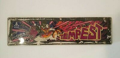Atari Tempest Original Authentic Video Game Cabaret Arcade Plexiglass Marquee