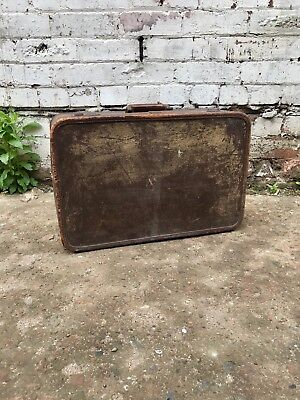 Vintage Antique Oshkosh Trunks Inc 1920's Luggage Suitcase 20's 30's Travel Case