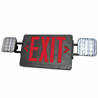 Exitronix Single/Double Face - LED Combo Exit Sign - Self Test Red Letters