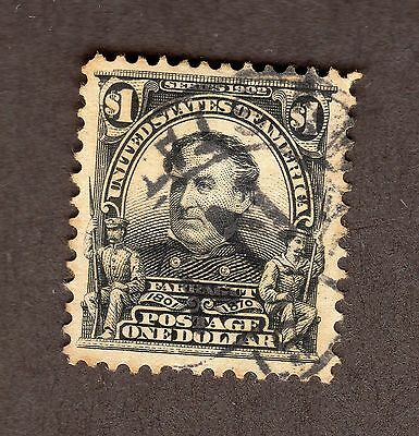 U.S. Stamps,  $1 Farragut, Black, Scott 311, VF, used  (L1529)