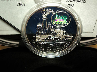 2001  Canadian Mint (The Scotia )The Transportation Series 1 Oz Sterling Silver