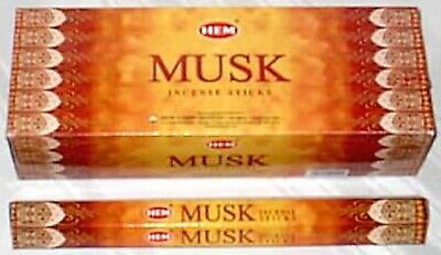 40 Incense Sticks - MUSK - HEM BRAND - 5 Boxes x 8 Sticks- Fresh Stock