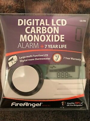 Fireangel Digital Co-9D Lcd Co Alarm Detector Co 7 Year Life Home