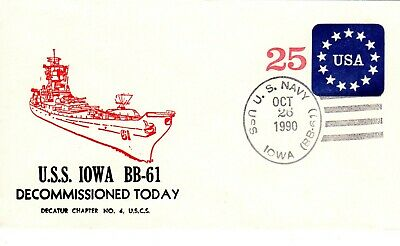 USS IOWA BB 61 Battleship 3 Cached Covers A Piece & 3 Colour