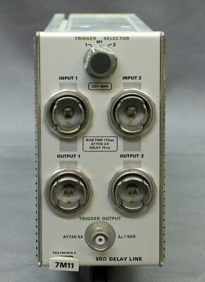 Textronix 7M11 50 Ohm Delay Line plugin, tested good, XLNT