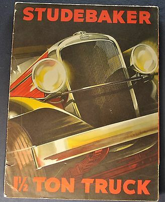 1932 Studebaker 1.5-Ton Truck Sales Brochure Folder Original 32