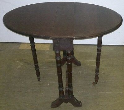 Antique Aesthetic Victorian Mahogany Miniature Dropleaf Gateleg Sutherland Table