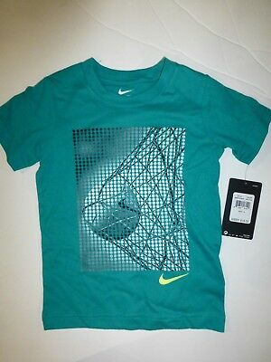 8801a283 Nike Boys Size 4 Soccer Rio Teal Green Athletic Cut Short Sleeve T Shirt New