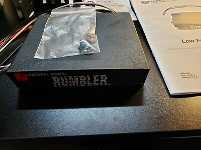 BRAND NEW Federal Signal Rumbler 2 Low Frequency  Siren Amplifier Controller